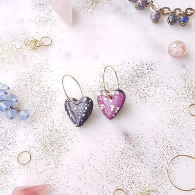 Créoles coeurs Galaxie - Azul&Joy