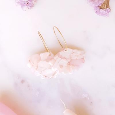 Créoles éventail Rosa - Azul&Joy
