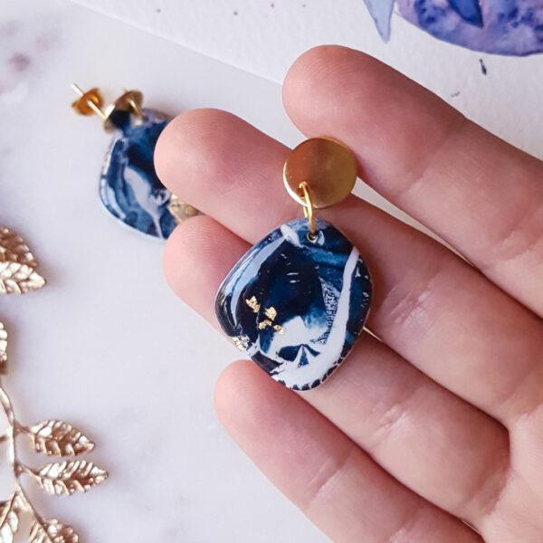 Boucles galet Atlantide - Azul&Joy