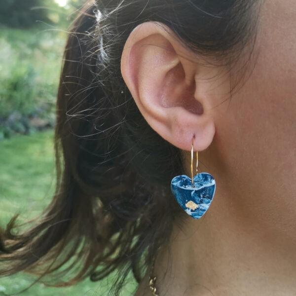 Créoles coeur Atlantide - Azul&Joy