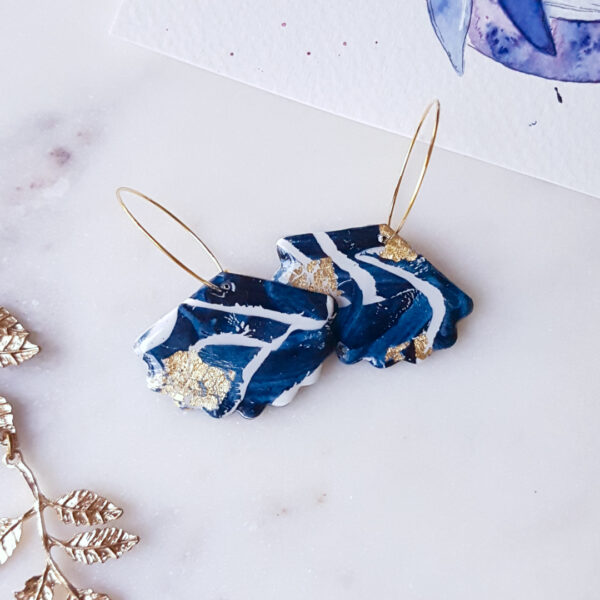 Créoles éventail Atlantide - Azul&Joy