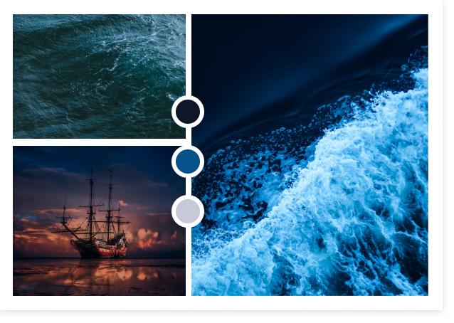 Moodboard Atlantide - Azul&Joy
