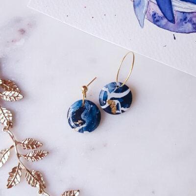 Créoles rondes Atlantide - Azul&Joy